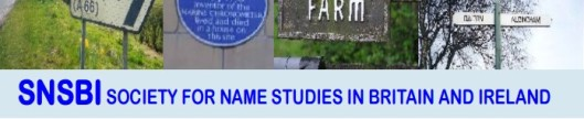Image result for Society for Name Studies in Britain and Ireland